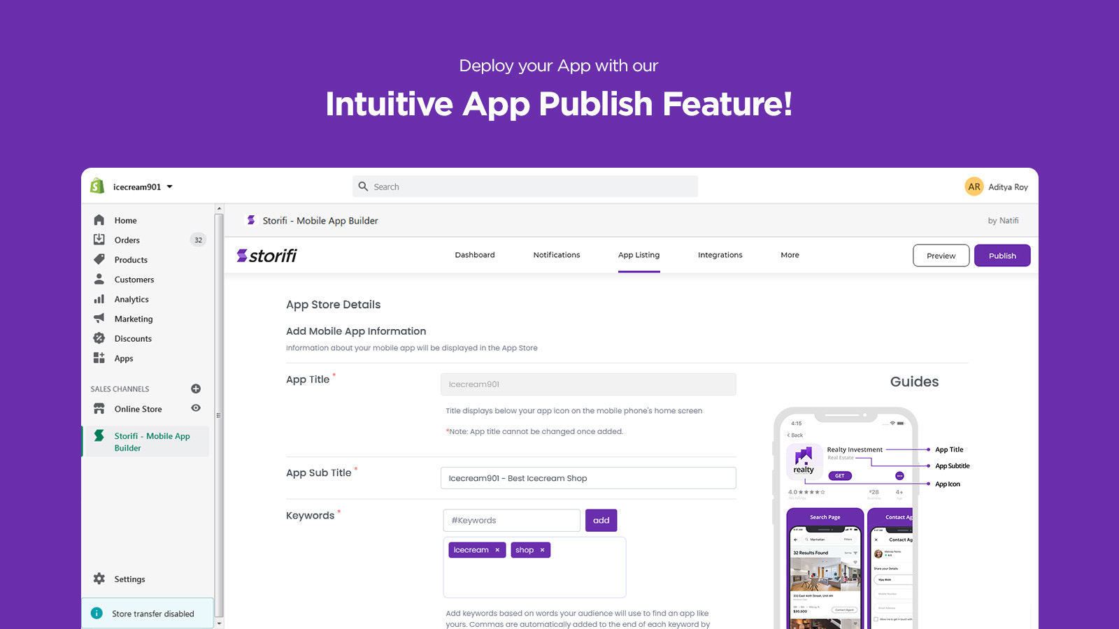 Deploy your App with Storifi's App Publish Feature in No Time