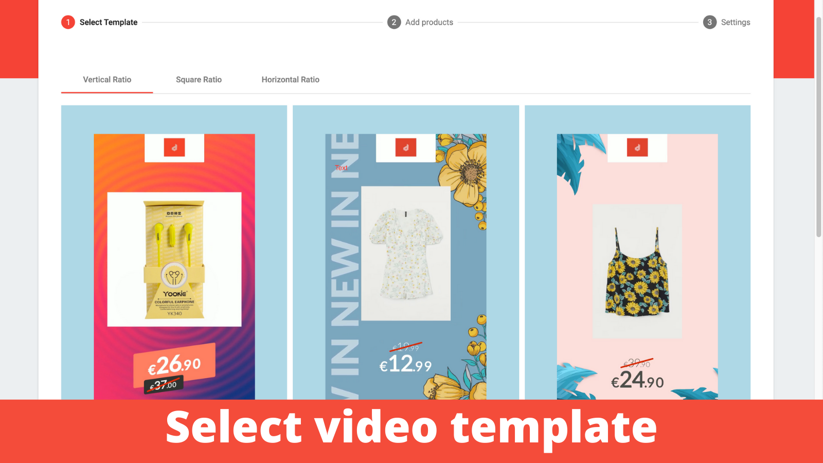Select Video Template