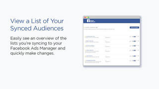 view a list of all your facebook audiences