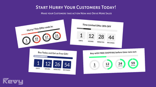 Revy Countdown Timer is perfect for sales and holiday sales.