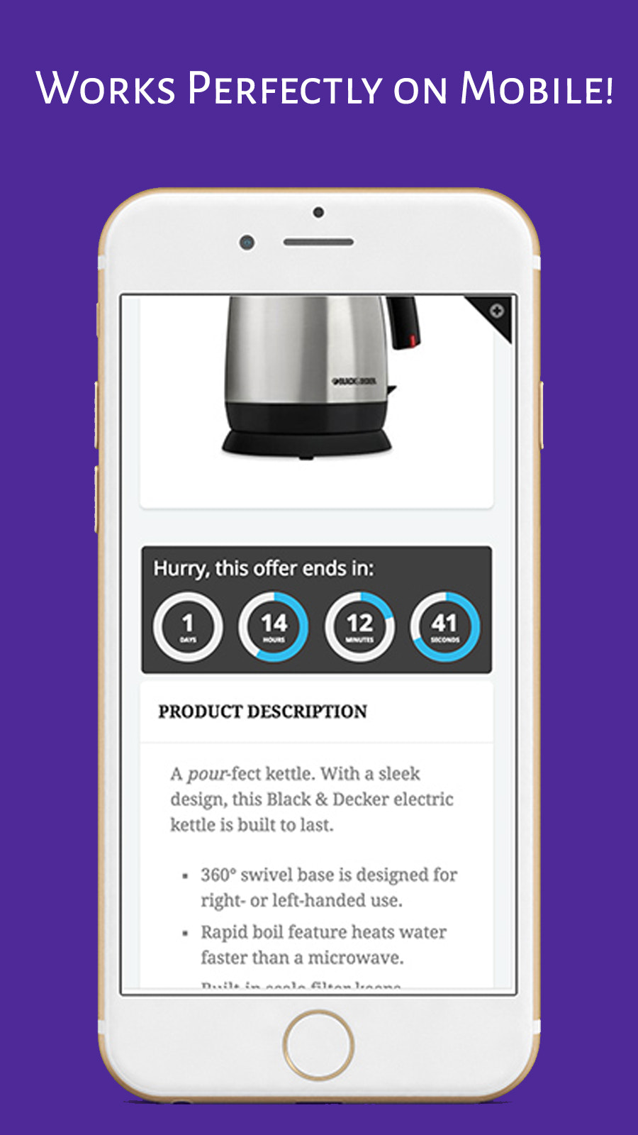 Optimized for Mobile. Fully Responsive. Increases Conversion.