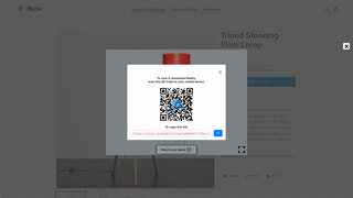 Scannable QR code bridges Desktop users to Mobile for AR