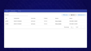 5- Tracking logs page