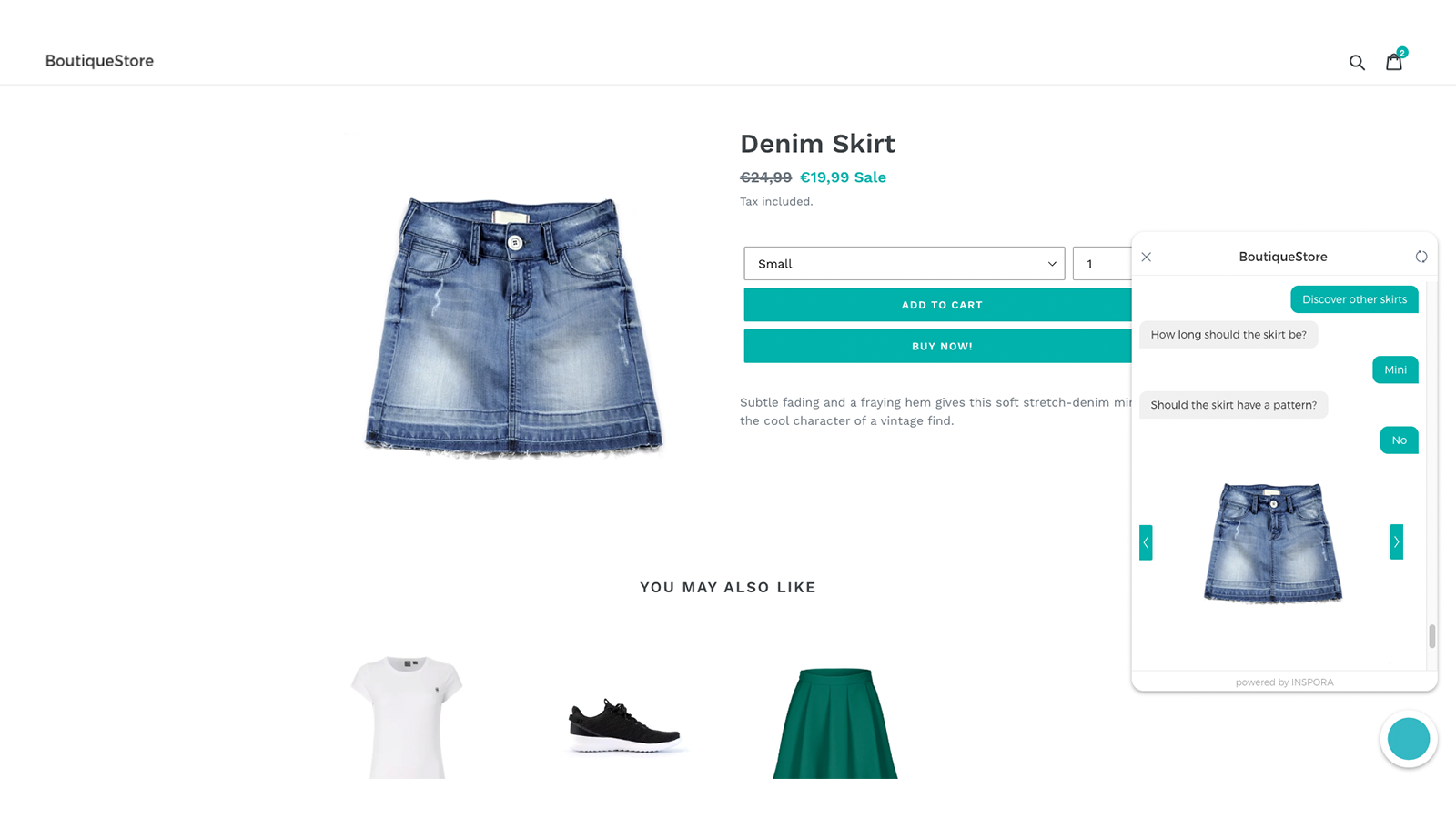 Find products through a personalized product recommendation flow