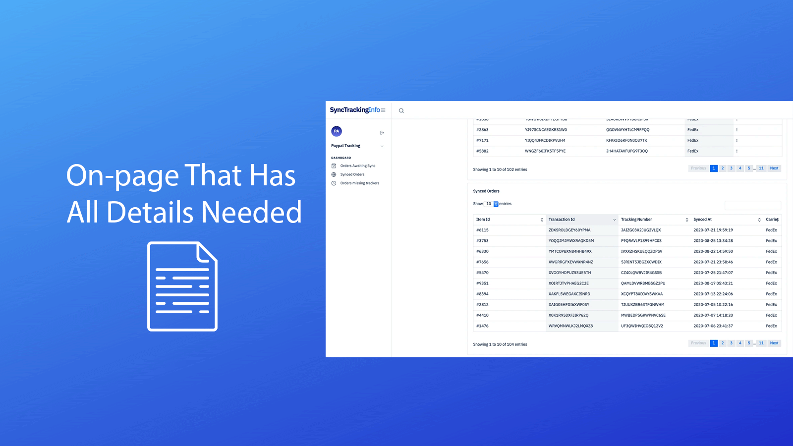 On-Page that has all details needed.