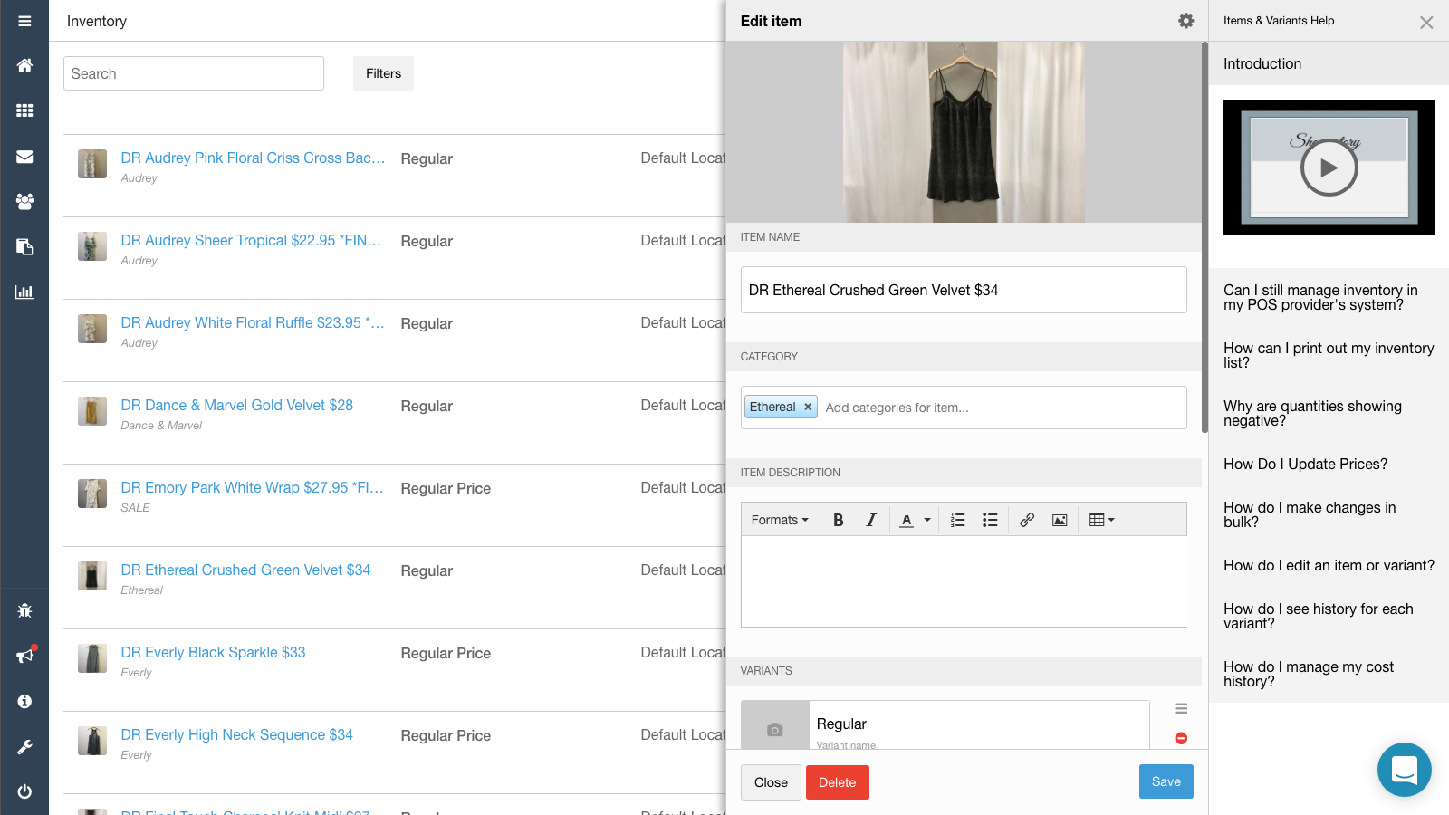 Inventory Management and Optimization