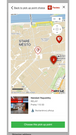 Modal for map selection of pickup point