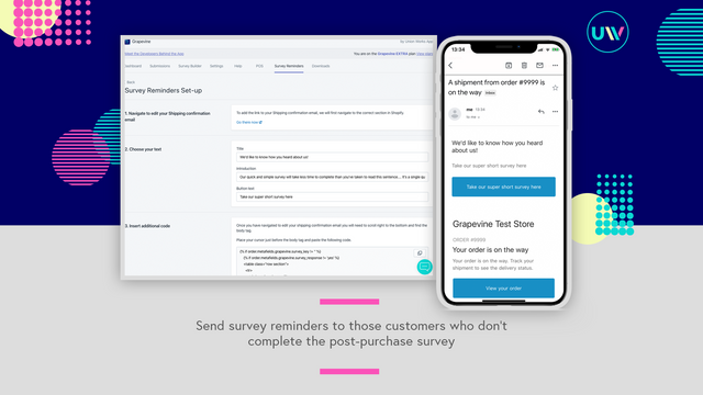 Send a post purchase follow up email