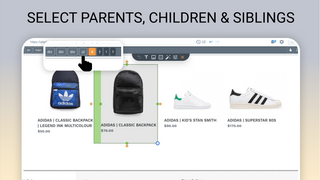 Select parents, children and siblings with structure aware edit