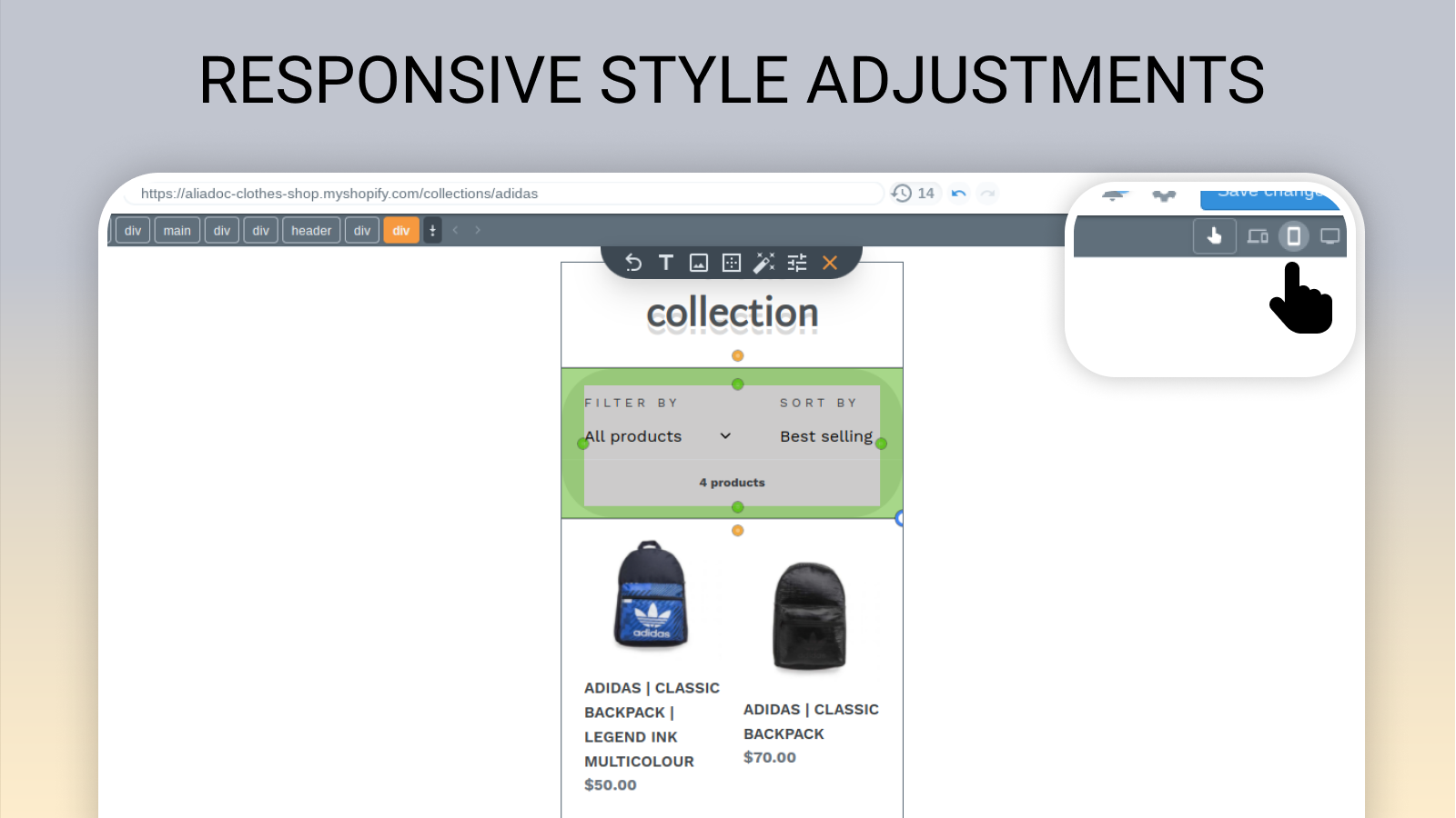 Improve responsive design with changes targeting mobile devices
