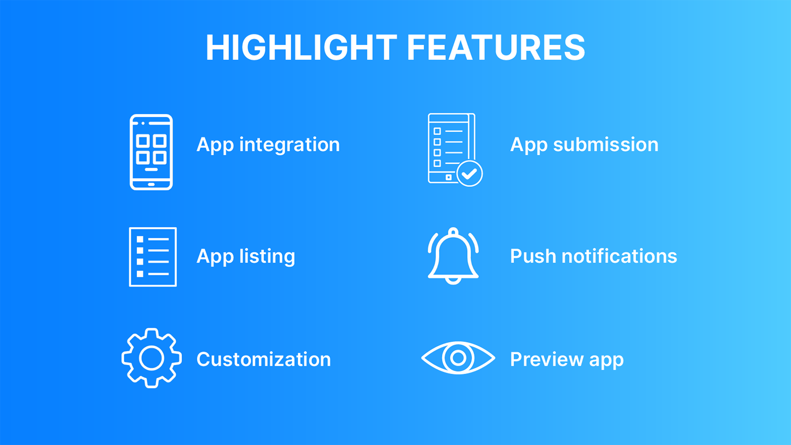 AllFetch Shopify mobile app highlight features