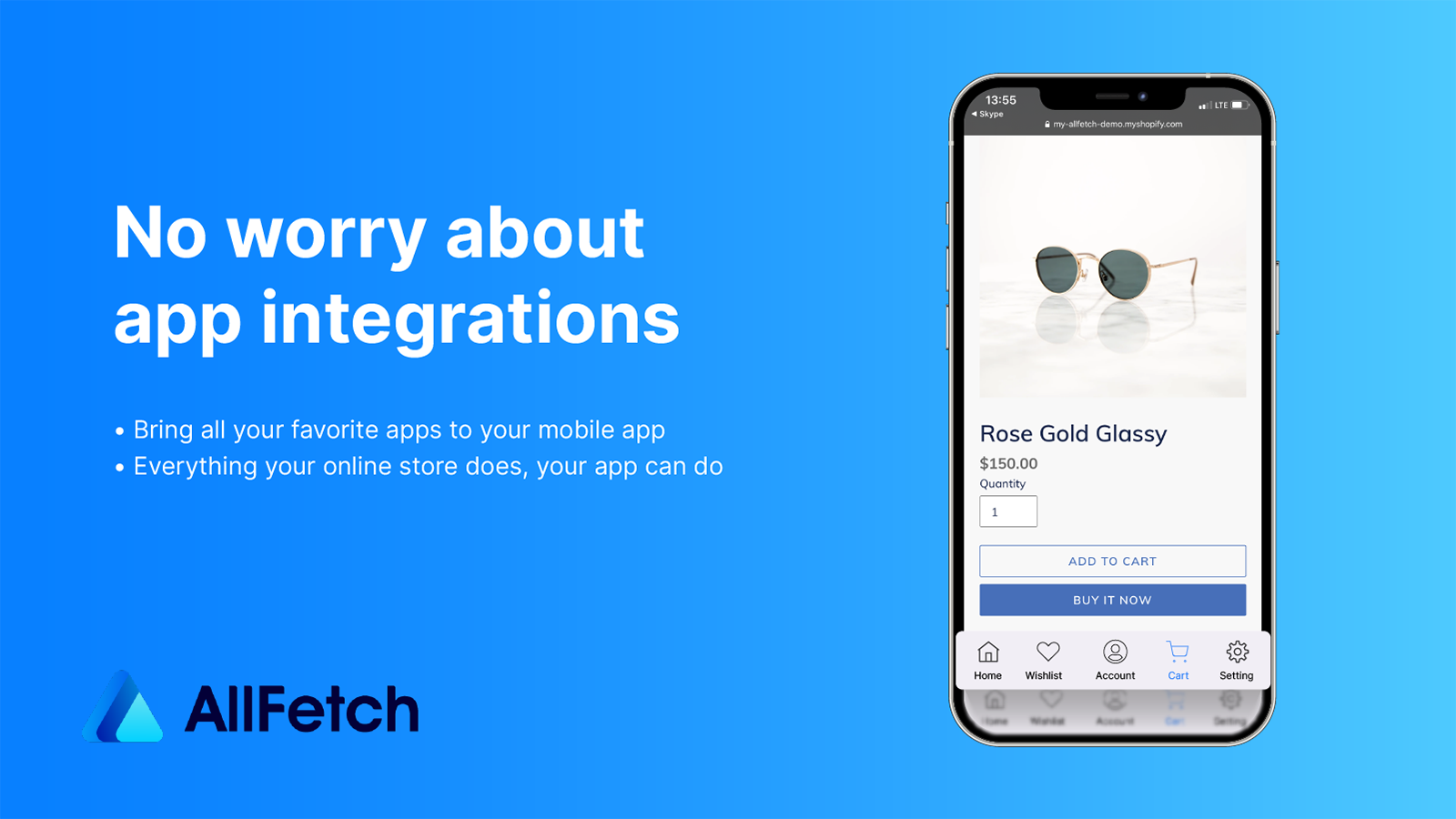 The mobile app seamlessly work with all current Shopify apps