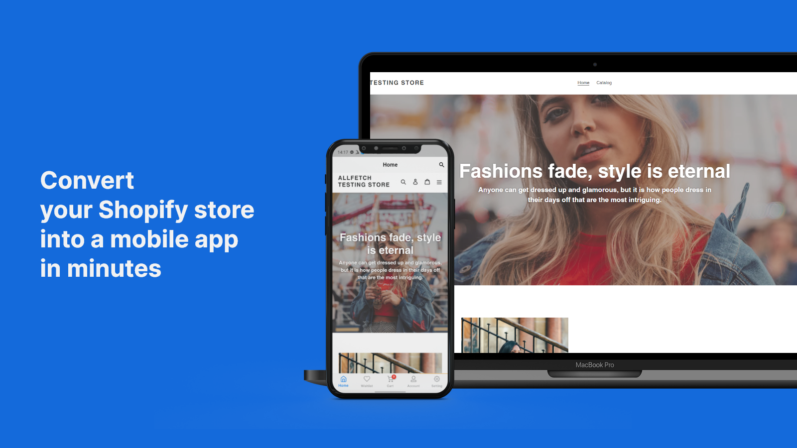 Convert your Shopify store into mobile app in minutes
