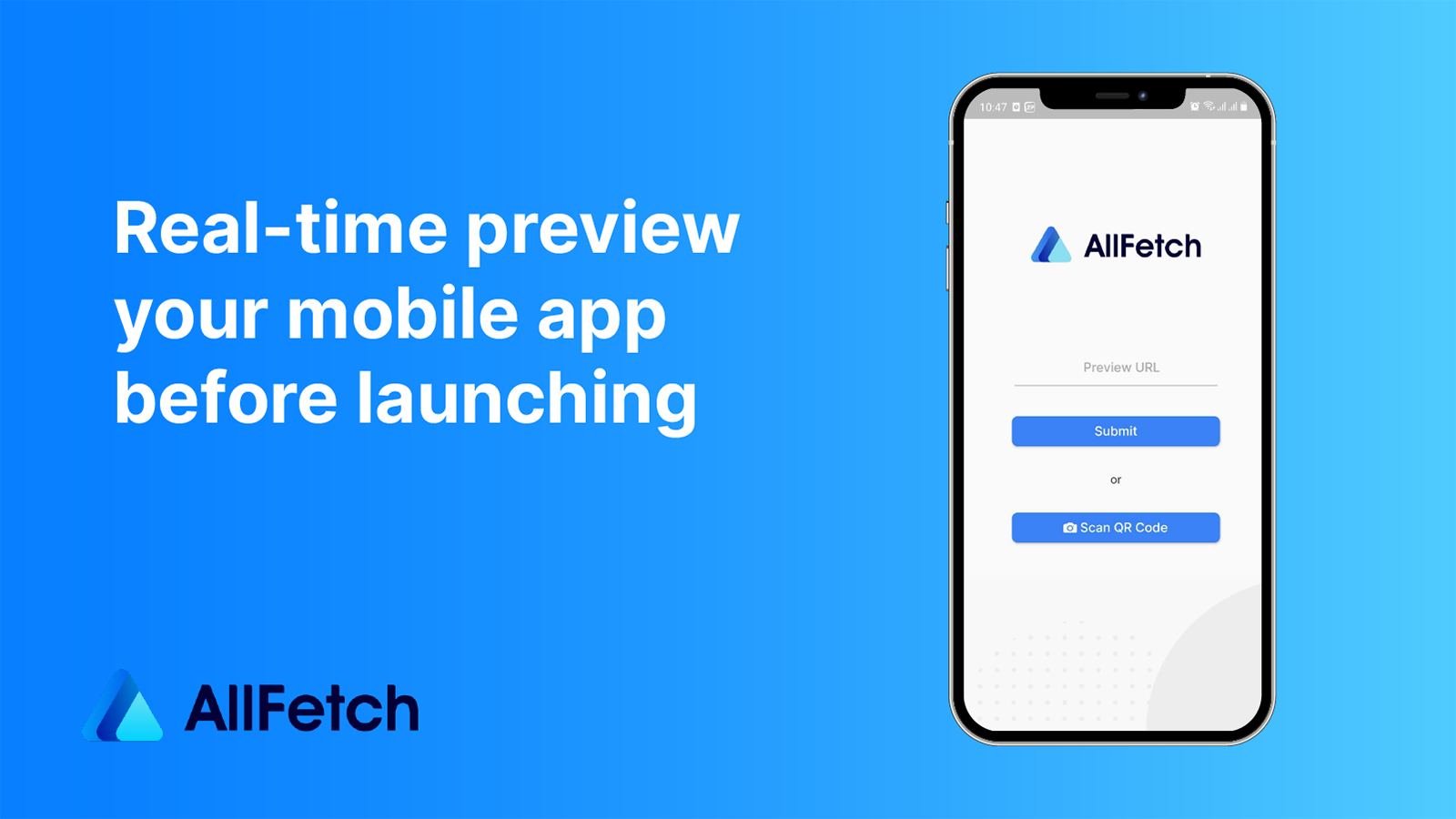 Real-time preview your mobile app before launching