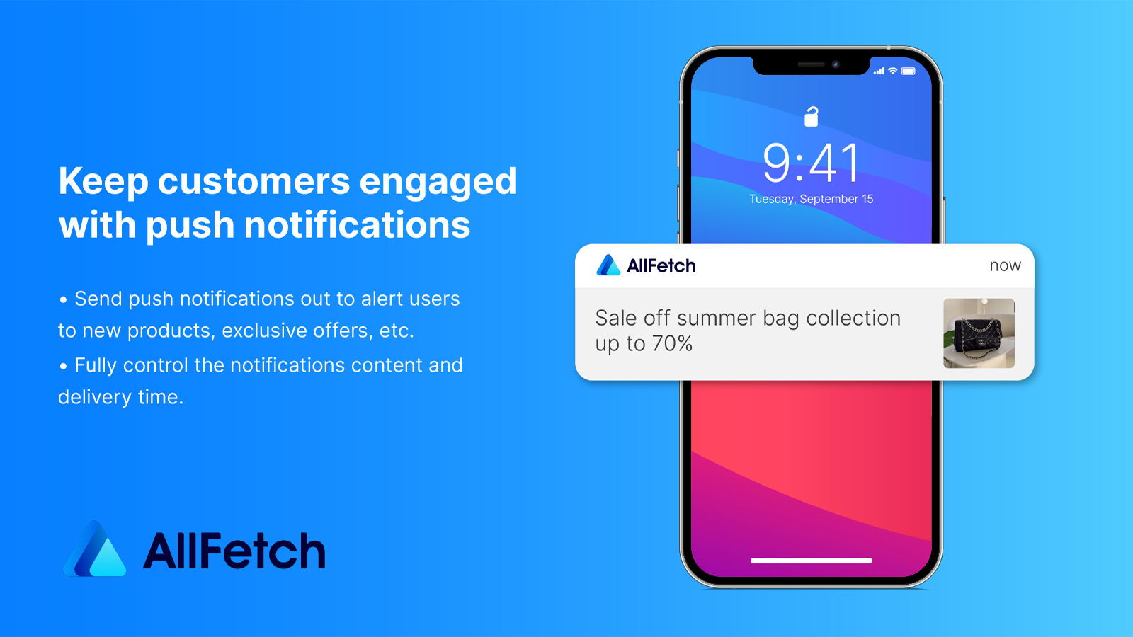 Engage with your customers with custom mobile push notifications