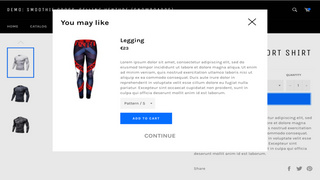 Add cross selling popups for a better chance of conversions