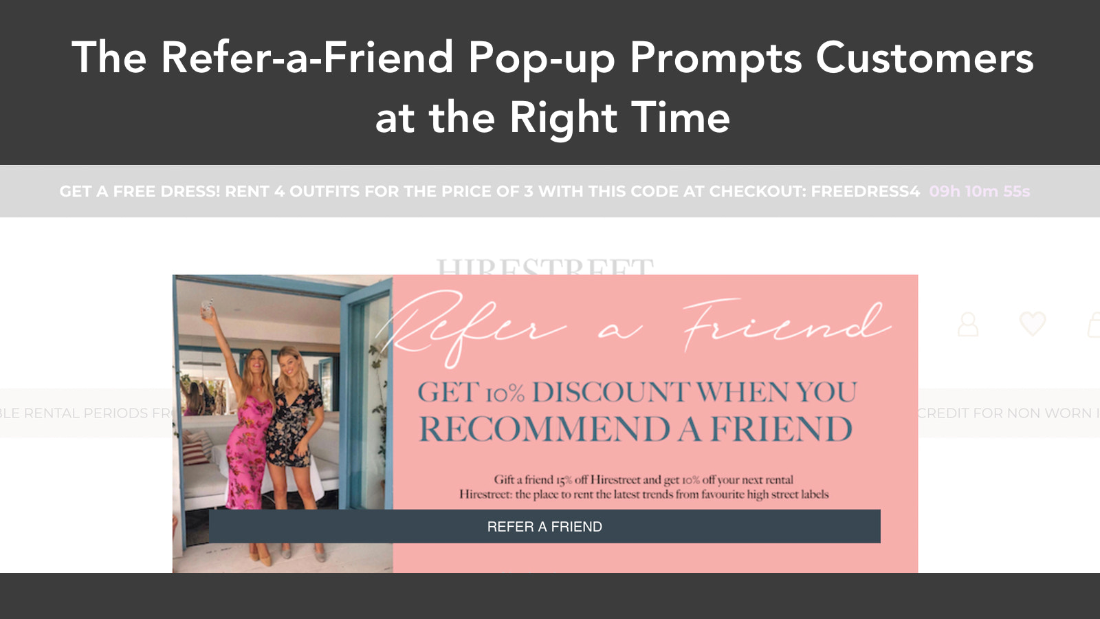 Referral Popup Prompts Customers at the Right Time