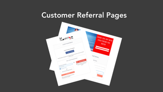 Customer Referral & Invitation Pages