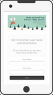 Responsive refer-a-friend invitation screens
