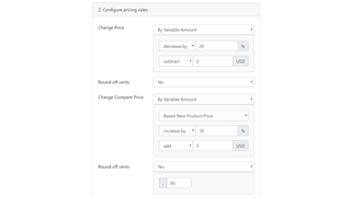 Specify pricing rules