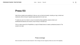 Introduction text of demo press kit