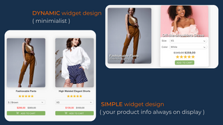 Widget variants, Price, compare at price, Add to cart, Review