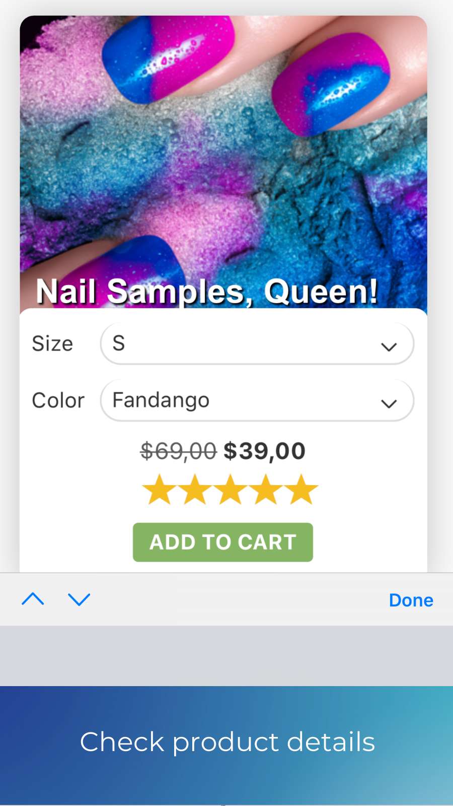 product variants add to cart