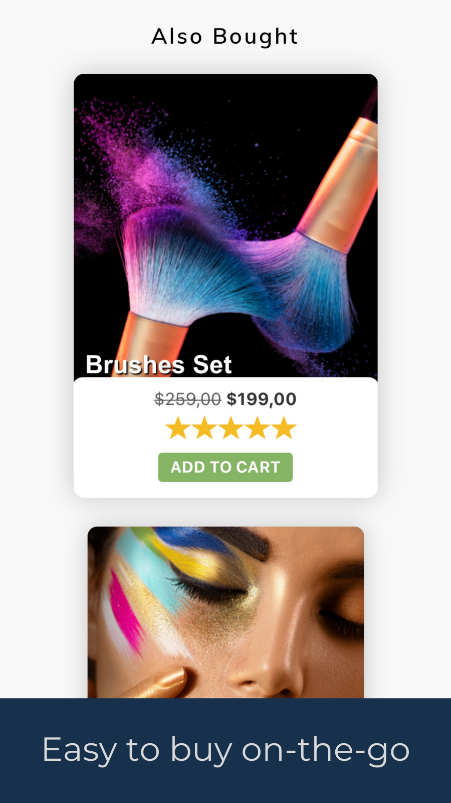 add to cart button variants mobile friendly