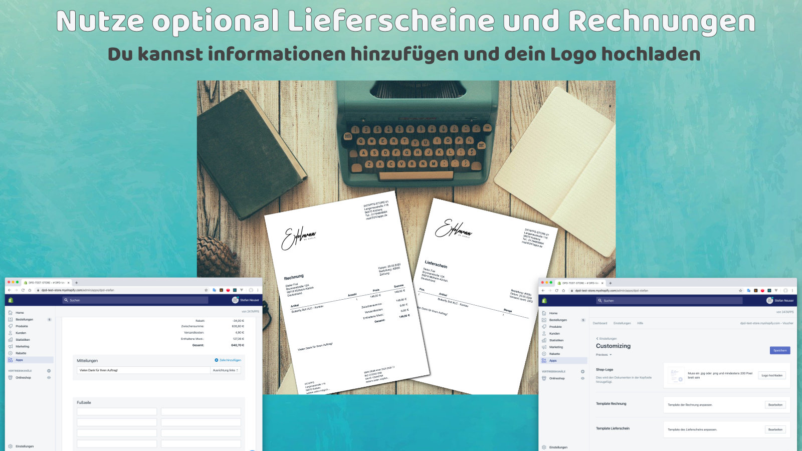 creation of individuell invoices and slips