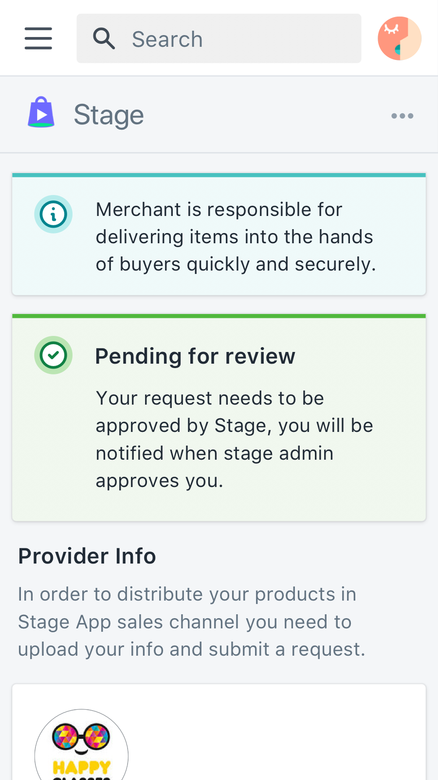 Getting update about your account approval