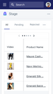 List of videos created for your Products by Stage Influencer
