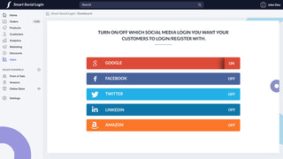 Turn ON/OFF which social media show on Login/Register page