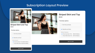Subscription Layout Preview