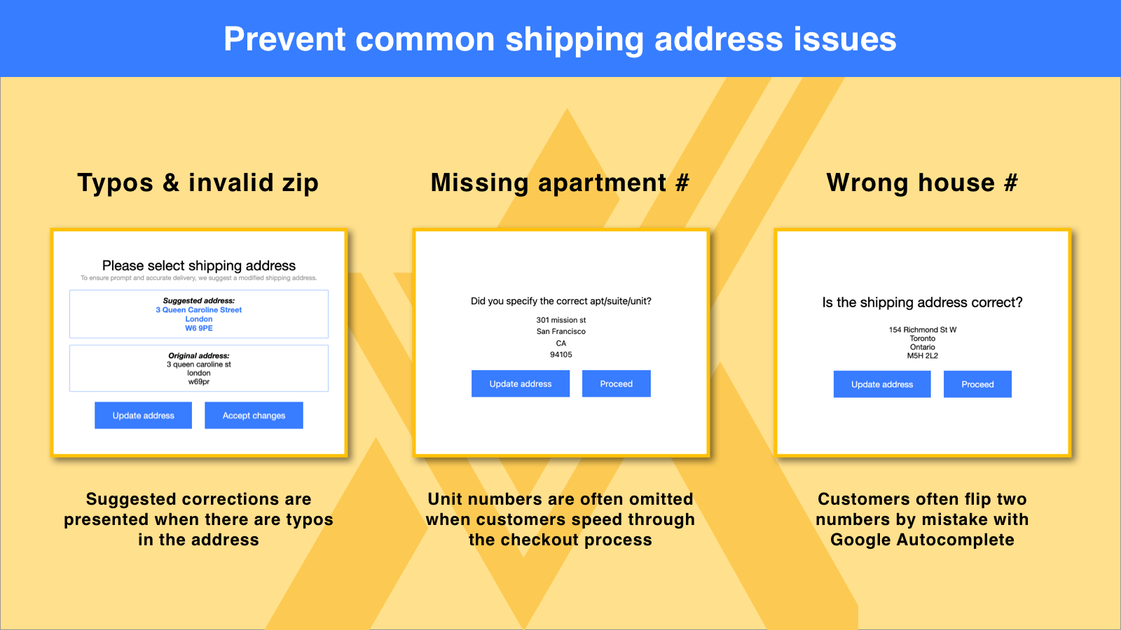 Prevent common shipping address issues