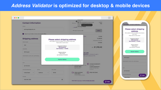 Address Validator is optimized for desktop and mobile devices