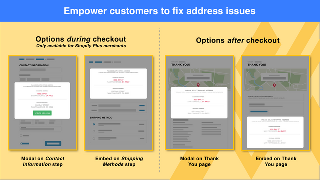 Empower customers to fix addresses