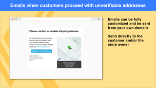Emails when customers proceed with unverifiable addresses