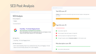 SEO Post Analysis on your Blog