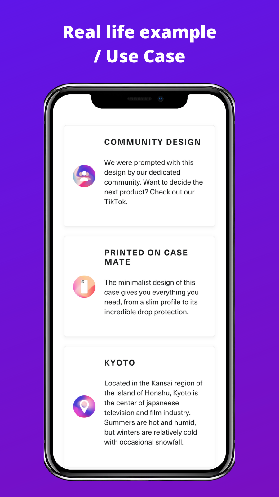 Customer examples / Use cases