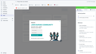 Edit your popups easily from the Shopify admin