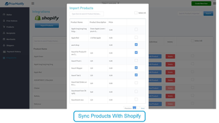 Sync your products with Shopify