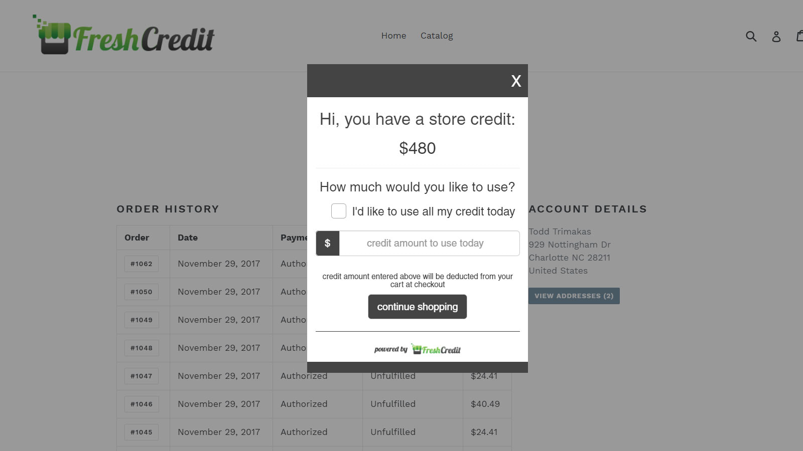 store credit for your store