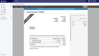 invoice in lexoffice