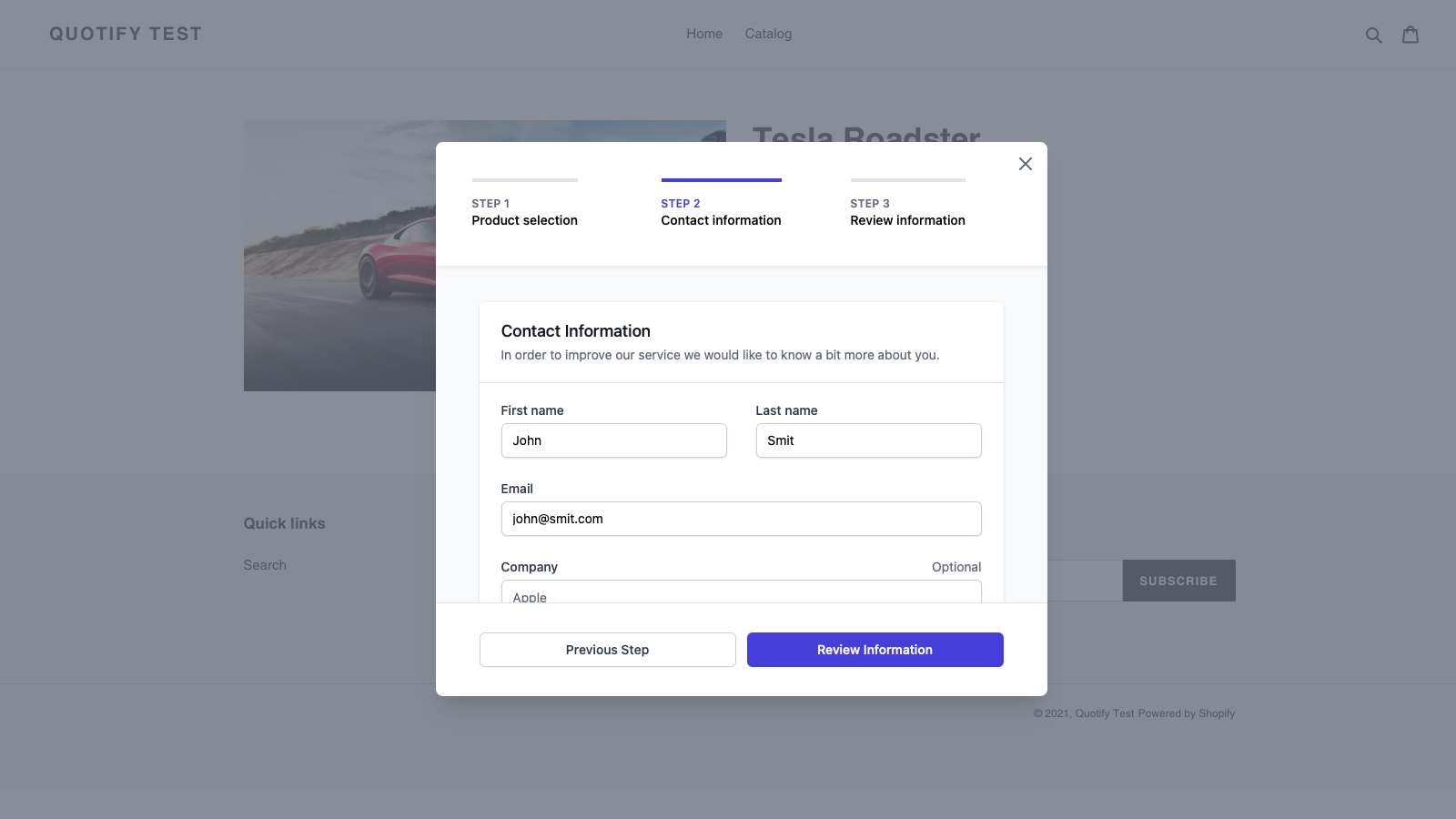 Design your own form and collect the information you need.