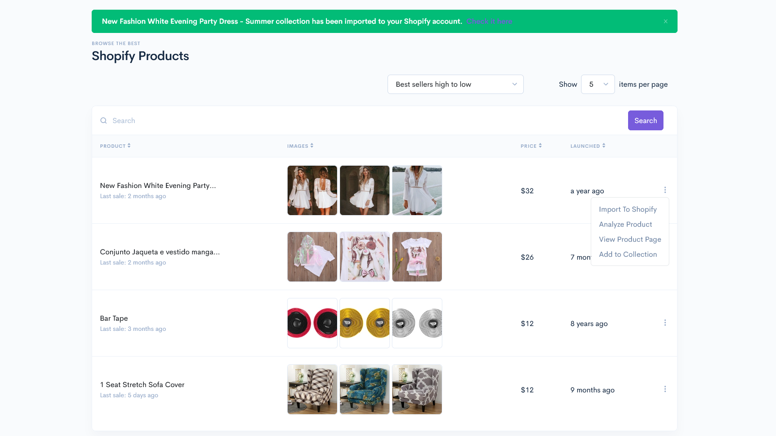 SaleSource Shopify Import