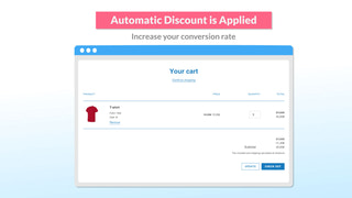 Automatic discount is applied in the cart page