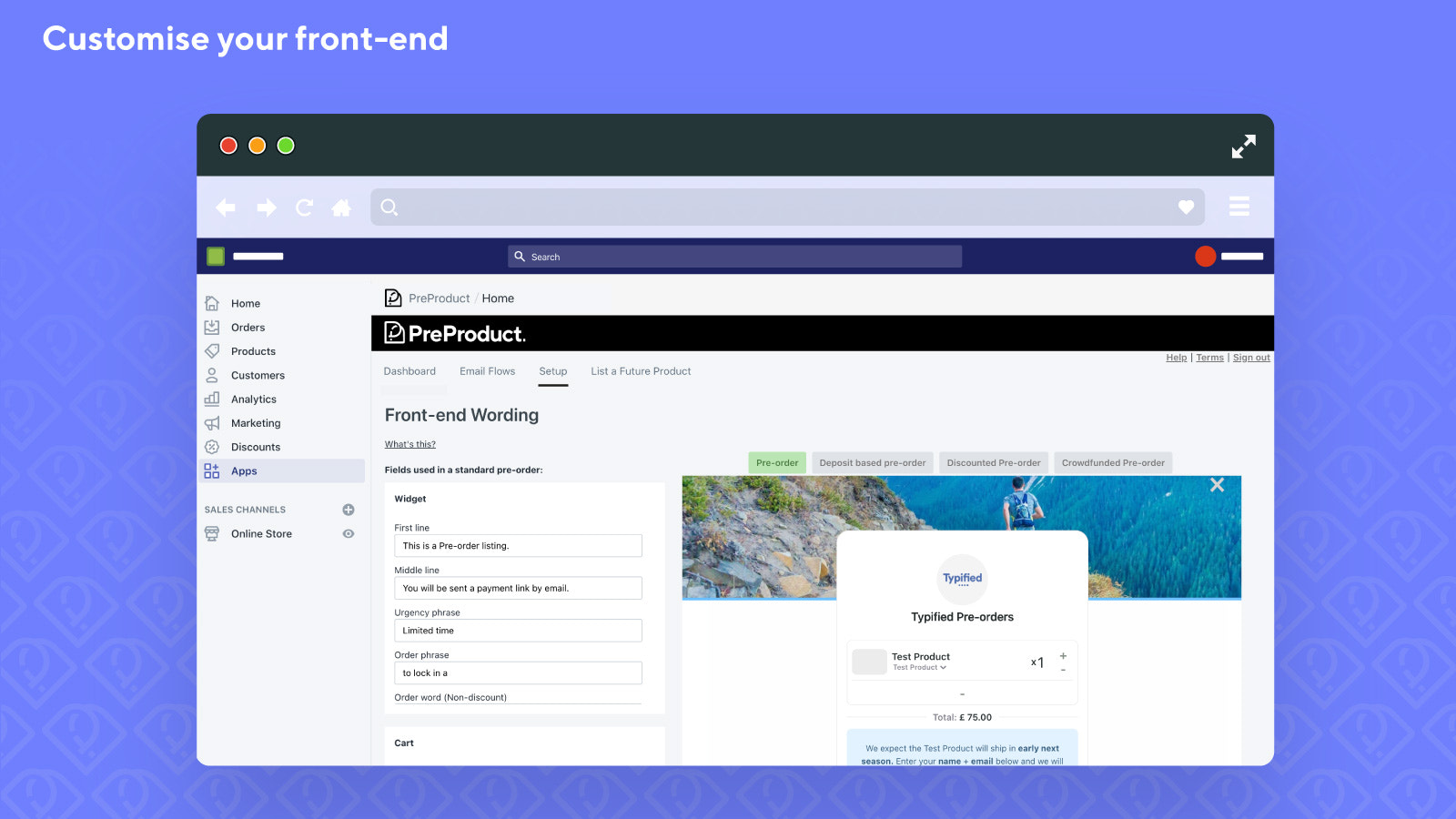 Customise your front-end