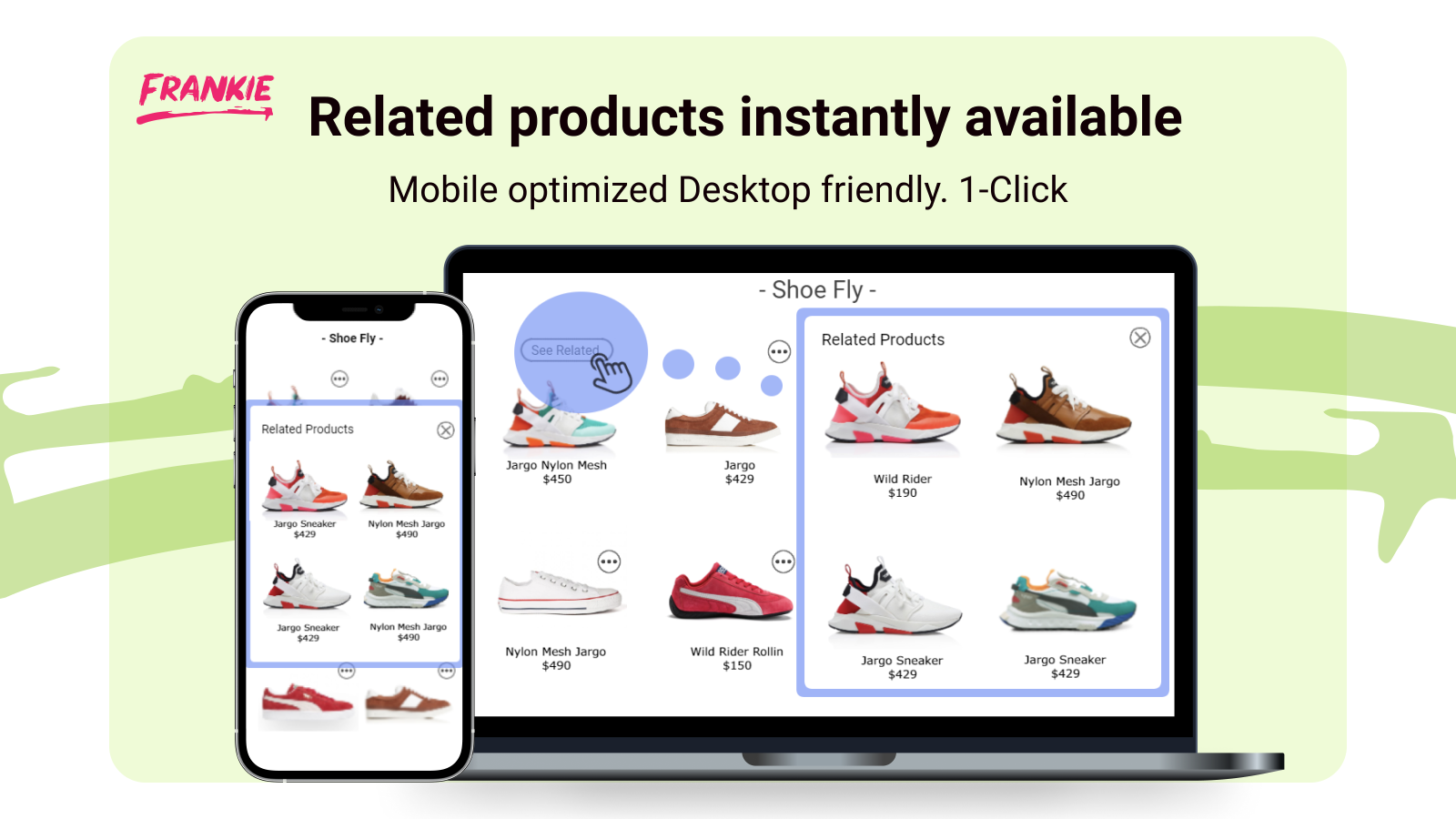 Inline uninterrupted shopping flow displaying engaging content