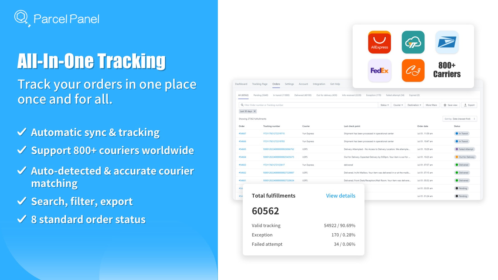 All-in-one tracking