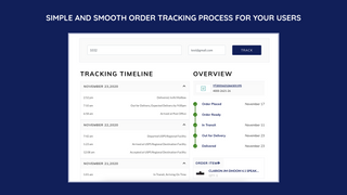 Simple and smooth order tracking process for your users